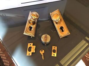 Gainsborough classic series brass entrance door handle set Erskine Mandurah Area Preview