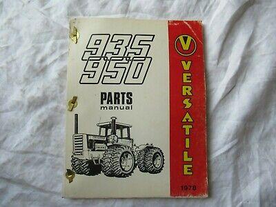 1978 Versatile 935 950 Tractor Parts Catalog Book Manual