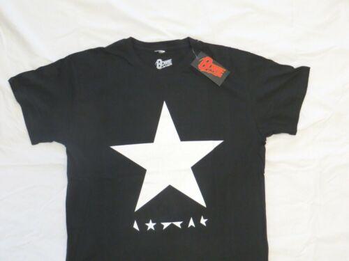 David Bowie Blackstar T Shirt Mens Size Large NEW! White Star on Black Shirt