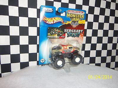 Hot Wheels  Monster Jam  Sergent Smash  Monster Bus 2 Trucks  Variations 1 64