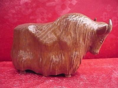 Beautiful, Old Wooden Figure___Buffalo__ oak __24cm__