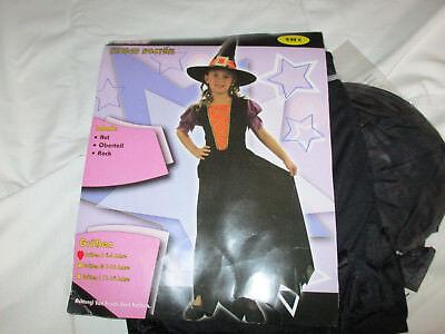 Hexen-Kostüm,Mädchen 4-6 Jahre, Halloween, Fasching