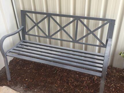 Metal charcoal garden seat chair