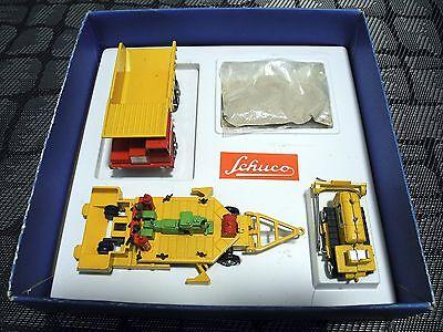 Schuco Piccolo 800 Geschenkpackung Strassenbau 60er Jahre Straßenbau XXL Fotos