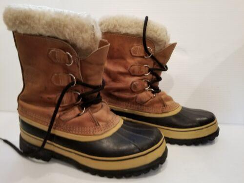 $52.00 - Womens Sorel Caribou Winter Snow Boots US Size 9