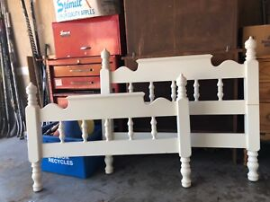 Twin Bed Headboard and footboard solid wood