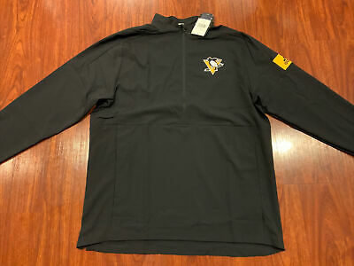 Adidas Men's Pittsburgh Penguins Hockey NHL Game Mode 1/4 Zip Jacket Large L