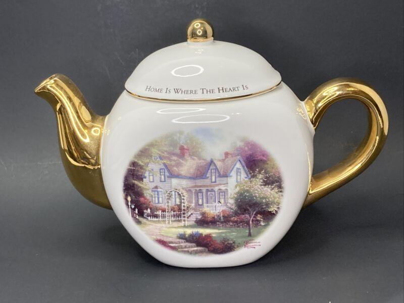 "Thomas Kincaid ""Home is Where the Heart Is"" Teleflora Gift Teapot"