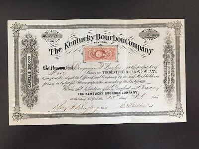 The Kentucky Bourbon Company, Original Aktie von 1865, sehr selten