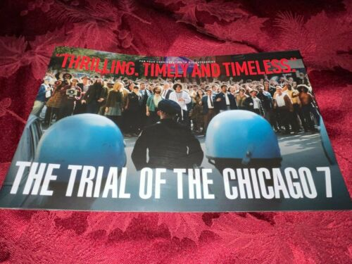 THE TRIAL OF THE CHICAGO 7 BOOKLET FYC FRANK LANGELLA, SACHA BARON COHEN