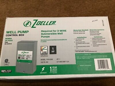 Well Pump Control Box New Zoeller 230v 3- Wire Plus Ground Free Same Day Ship