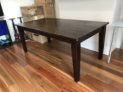 Used timber dining table for sale