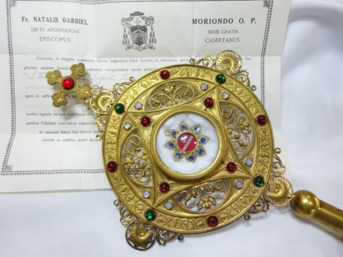 ✝ Reliquary Relic St. Therese of Lisieux Therese of the Child Jesus + Document
