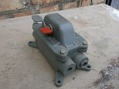Big Vintage Explosion Proof Industrial Metal Switch Power Steampunk