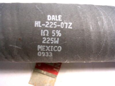 Dale Ww Power Resistor 225 Watts  1 Ohms Chassis Mount Used