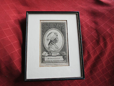 antique hogg 1787 framed  print of mrs montague