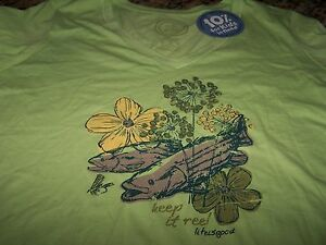 Life is good keep it reel fish vee s s t shirt lime for Keep it reel fishing