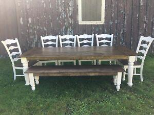 Farmhouse harvest table set for 10–12 PPL
