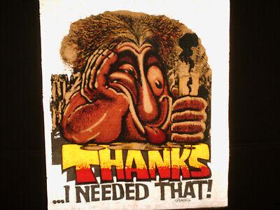 Vintage T-shirt Heat Transfers Lot Of 2 Caveman Art By Ed Newton Roach 1972