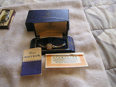Vintage Waltham Premier Watch Original Box and Papers 17 Jewels 670