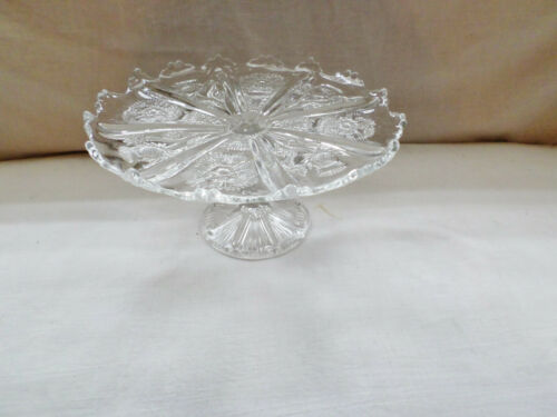 Antique EAPG Thistle Pattern Cake Stand 9.5""