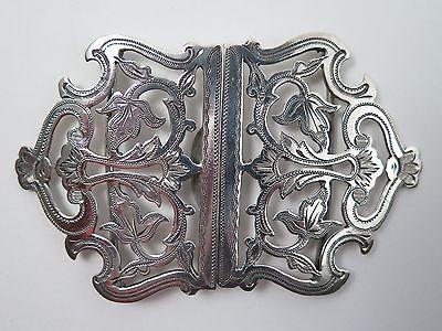 Victorian silver nurses buckle 1899