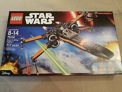 LEGO Star Wars The Force Awakens 75102 Poe's X-Wing Fighter  NIB  Ages 8-14