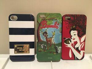 Iphone 4 cases (Disney, Michael Kors...)