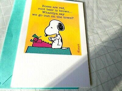 Snoopy Hallmark greeting card Schultz Happy New Year new unused vintage USA grea