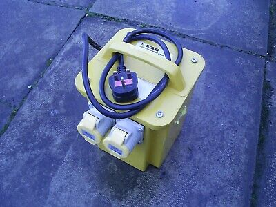 HEAVY DUTY  PORTABLE 240 to 110v TRANSFORMER 3.3 kva EXCELLENT  Condition P.W.O