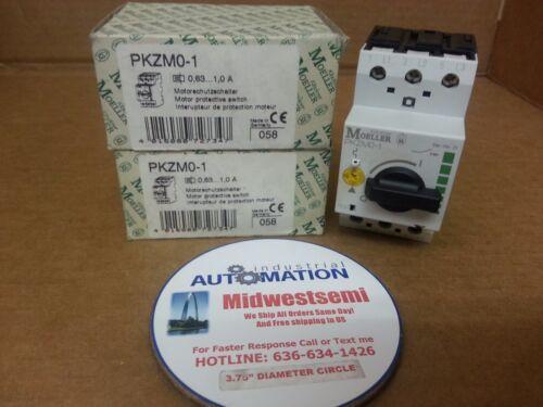 FREESHIPSAMEDAY KLOCKNER MOELLER PKZM0-1 .63-1AMP 50/60HZ PKZM01 MOTOR PROTECTOR