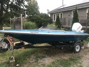 Baja Checkmate speed boat and trailer( no motor )