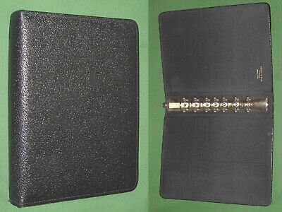 Desk 1.0 Black Pigskin Leather Day Timer Planner Binder Classic Franklin Covey