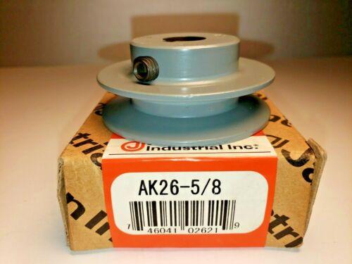 "Jason Industrial. AK26X5/8 Finished Bore Sheave, 5/8"" Bore, Uses 3L, A Belt"