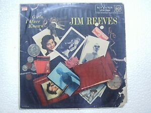 JIM-REEVES-GIRLS-I-HAVE-KNOWN-1st-Press-RARE-LP-record-vinyl-INDIA-INDIAN-VG