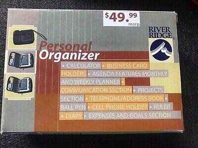 River Ridge Personal Organizer Calculator Monthlyweekly Planner New In Box