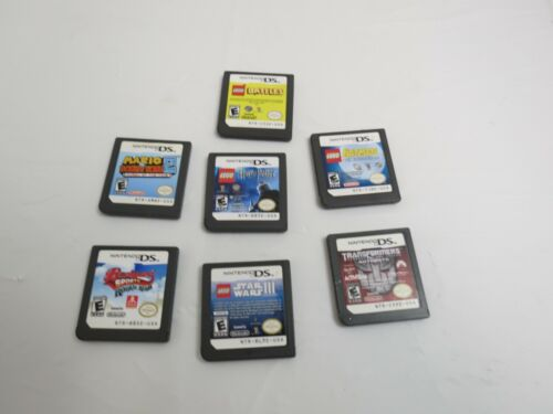 LOT OF 7 NINTENDO DS VIDEO GAMES 4 LEGO GAMES TRANSFORMERS SPORTS GAMES ONLY
