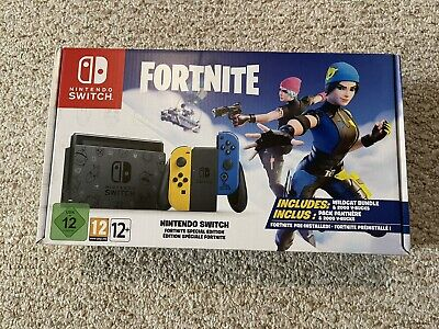 Fortnite Special Edition Nintendo Switch Console Euro Import NEW - FREE SHIPPING