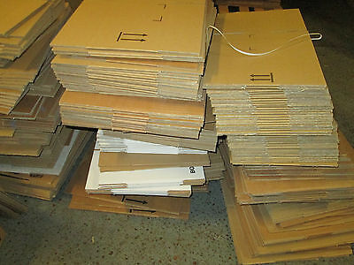 1000  x mixed sizes CARDBOARD BOXES PACKAGING  POSTAL BUNDLE OF BOXES