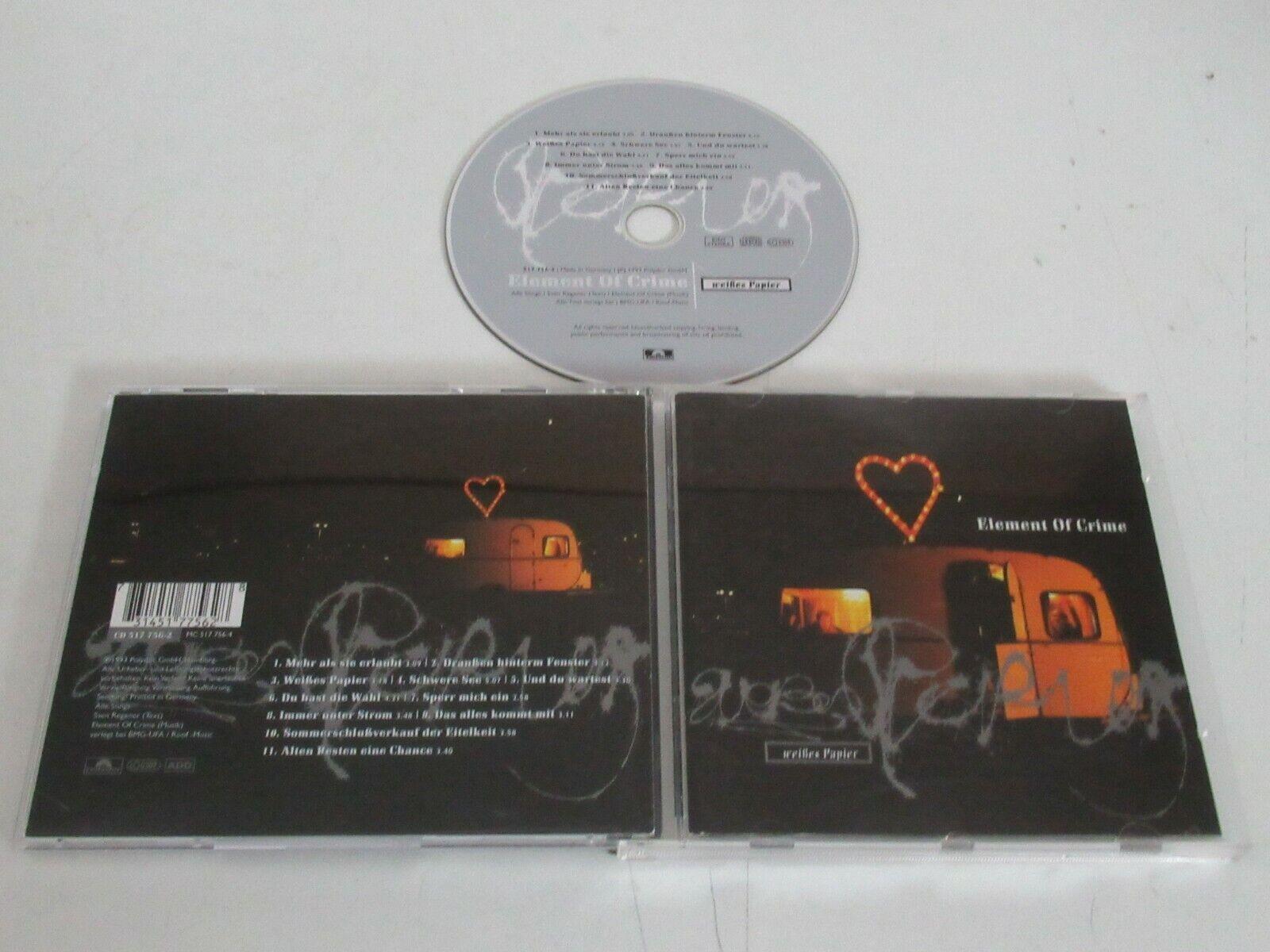 ELEMENT OF CRIME/WEIßES PAPIER()CD ALBUM