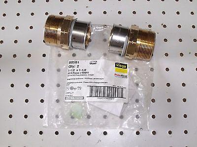 Viega Propress 80581 Pureflow Bronze 1 12 Pex Press 1 12 Mnpt 2pcs