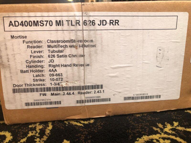 Schlage AD400MS70 MI TLR 626 JD RR / AD400MS70MITLR626JDRR