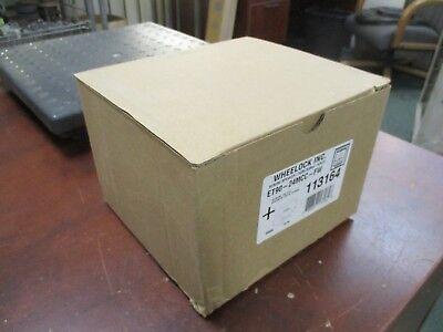 Wheelock Strobe Speaker Et90-24mcc-fw Strobe 24vdc Speaker 2570.7vrms White