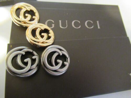 Gucci 4 buttons  GOLD  silver tone 20 mm   BUTTONS THIS IS FOR 4