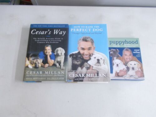 3 CESAR MILLAN # HC W/DJ PLUS PUPPYHOOD DECK TIPS PERFECT DOG CESAR