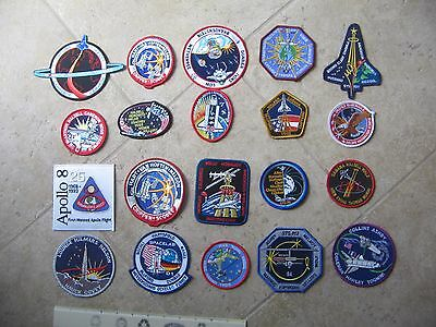 (20) Different NASA SPACE SHUTTLE Crew Mission Astronaut Patches Lot #1
