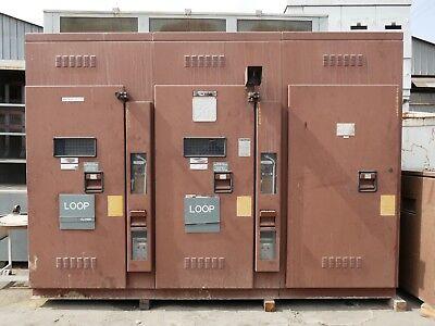 S&C 15kV 600A Duplex Switch EO/MO 1-in To 2 Loads Interlocked N3R SwitchGear