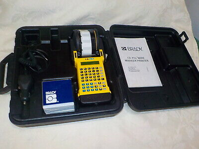 Brady I.d. Pro Id Wire Marker Printer Labeler With Case