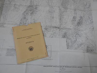 vintage large MAP HUMBOLDT COUNTY NEVADA 1961 USGS MINERAL INVESTIGATIONS