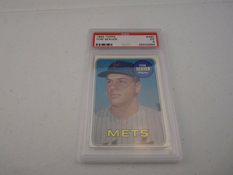 Tom Seaver 1969 Topps #480 Baseball Card PSA Graded Slabbed EX 5